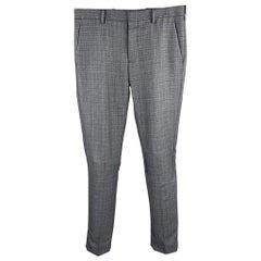PRADA Size 30 Gray Wool Button Fly Dress Pants