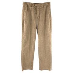 PRADA Size 30 Taupe Corduroy Zip Fly Casual Pants
