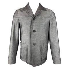 PRADA Size 36 Dark Gray Contrast Stitch Mohair / Wool Jacket