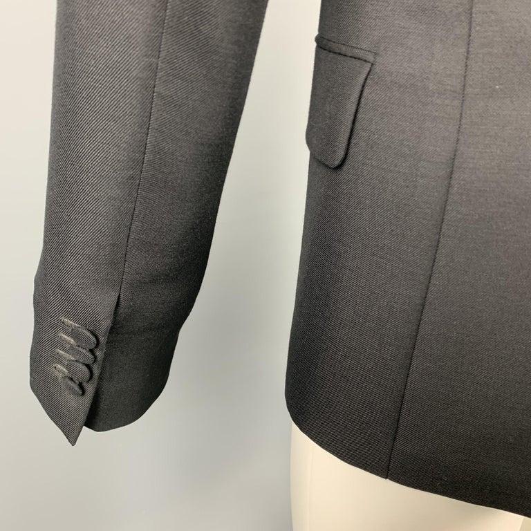 PRADA Size 36 Regular Black Solid Wool / Mohair Shawl Collar Sport Coat For Sale 1