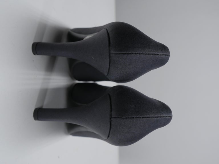 Prada Size 37 Black Pumps For Sale 3