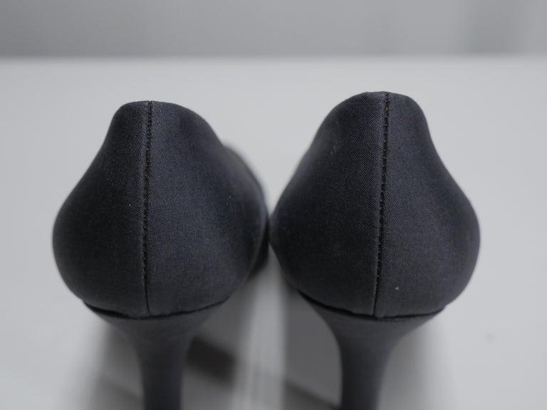 Prada Size 37 Black Pumps For Sale 4