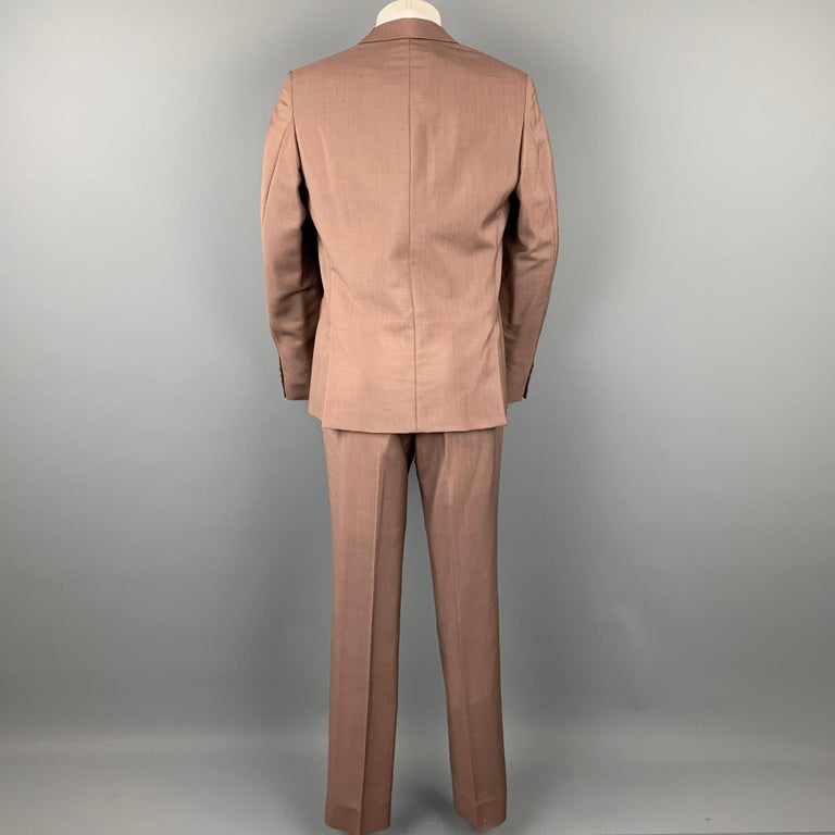 PRADA Size 38 Brown Mohair / Wool Notch Lapel Suit In Good Condition For Sale In San Francisco, CA