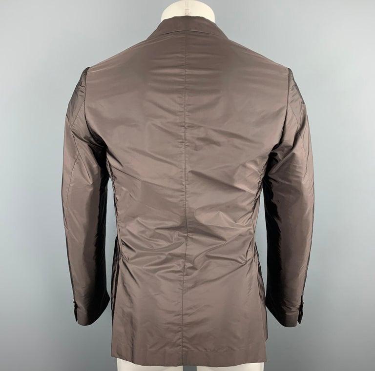 Men's PRADA Size 38 Brown Polyester Notch Lapel Sport Coat For Sale