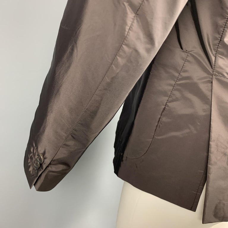PRADA Size 38 Brown Polyester Notch Lapel Sport Coat For Sale 1