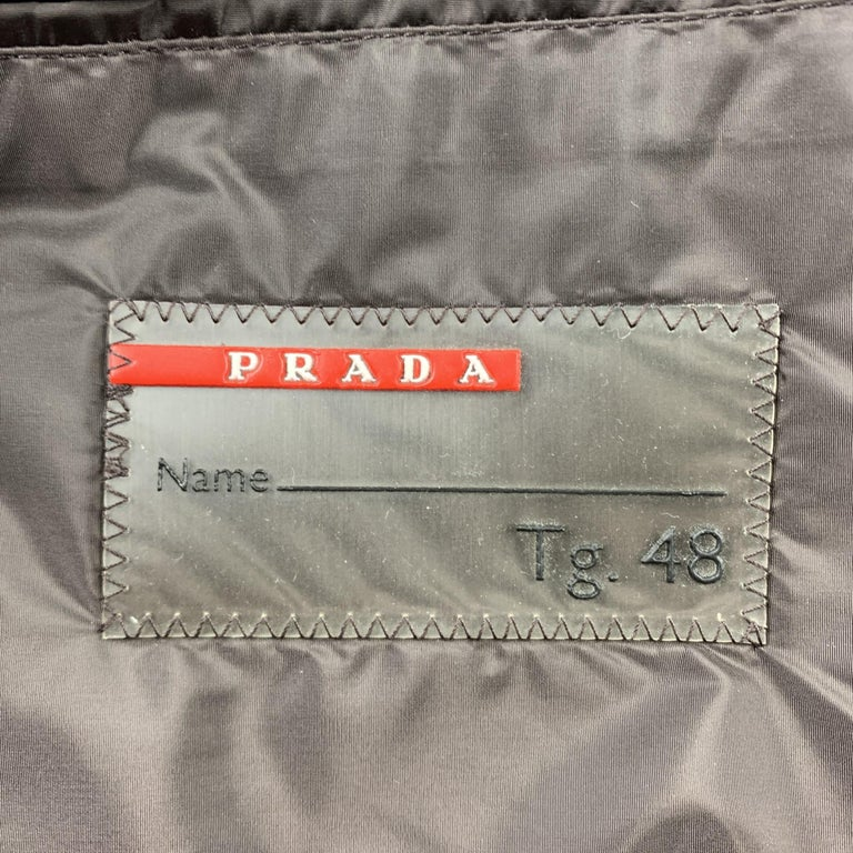 PRADA Size 38 Brown Polyester Notch Lapel Sport Coat For Sale 2