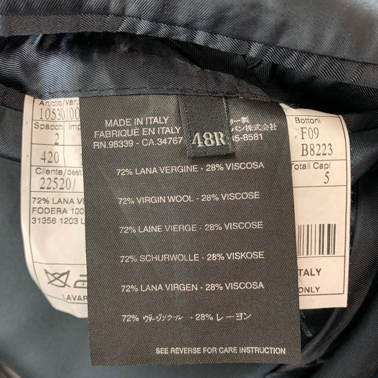 PRADA Size 38 Regular Navy Stripe Wool Blend Notch Lapel Suit For Sale 2
