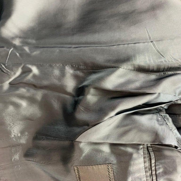 PRADA Size 38 Regular Navy Stripe Wool Blend Notch Lapel Suit For Sale 4