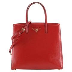 Prada Slim Convertible Tote Vernice Saffiano Leather Medium