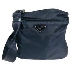 Prada small nylon cross body handbag in Black