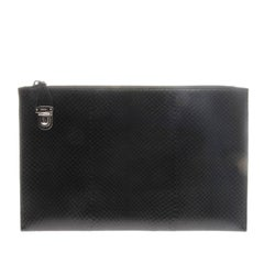 Prada Snakeskin Clutch Document Holder