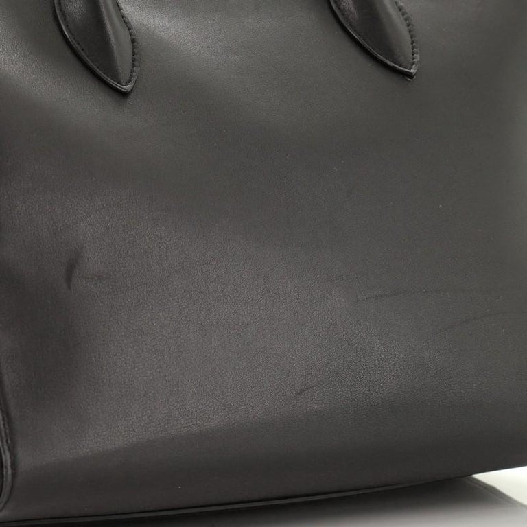 Prada Soft Bibliotheque Tote City Calfskin Large For Sale 2