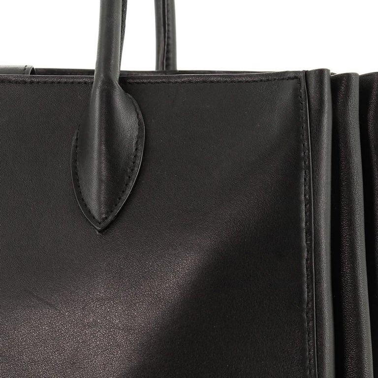 Prada Soft Bibliotheque Tote City Calfskin Large For Sale 3