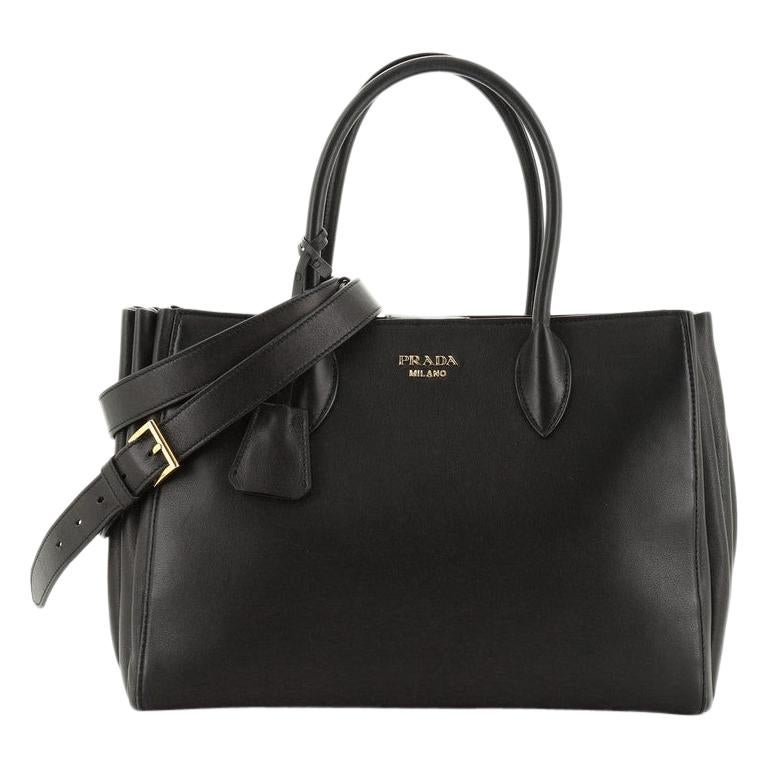Prada Soft Bibliotheque Tote City Calfskin Large For Sale