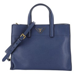 Prada Soft Triple Pocket Convertible Tote Saffiano Leather