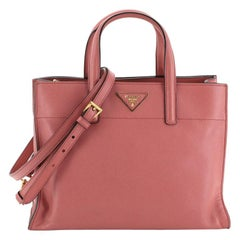 Prada Soft Triple Pocket Convertible Tote Saffiano Leather