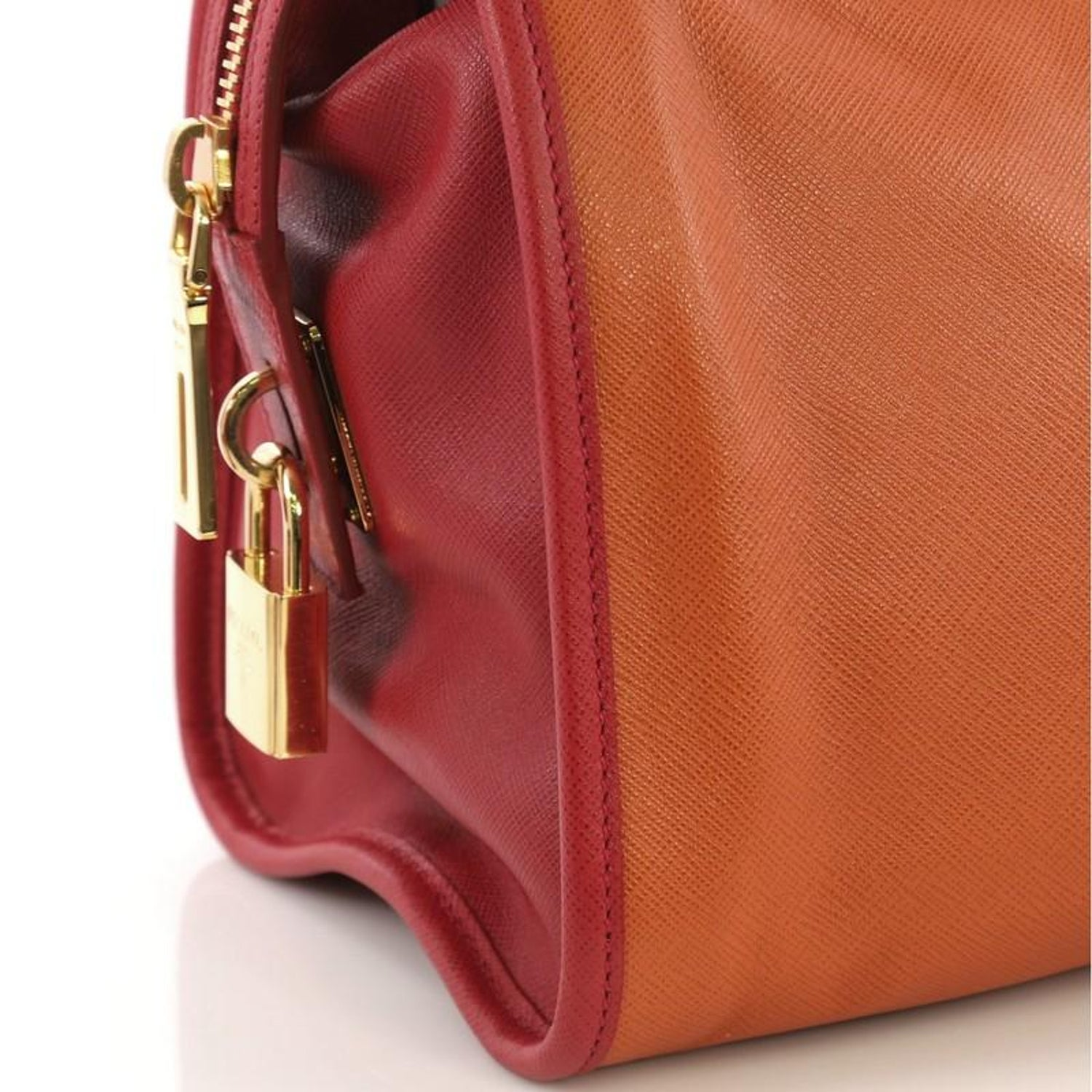 9667a3593f81 Prada Soft Triple Zip Satchel Saffiano Leather For Sale at 1stdibs