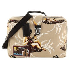 Prada Soft Trunk Bag Printed Canvas Large