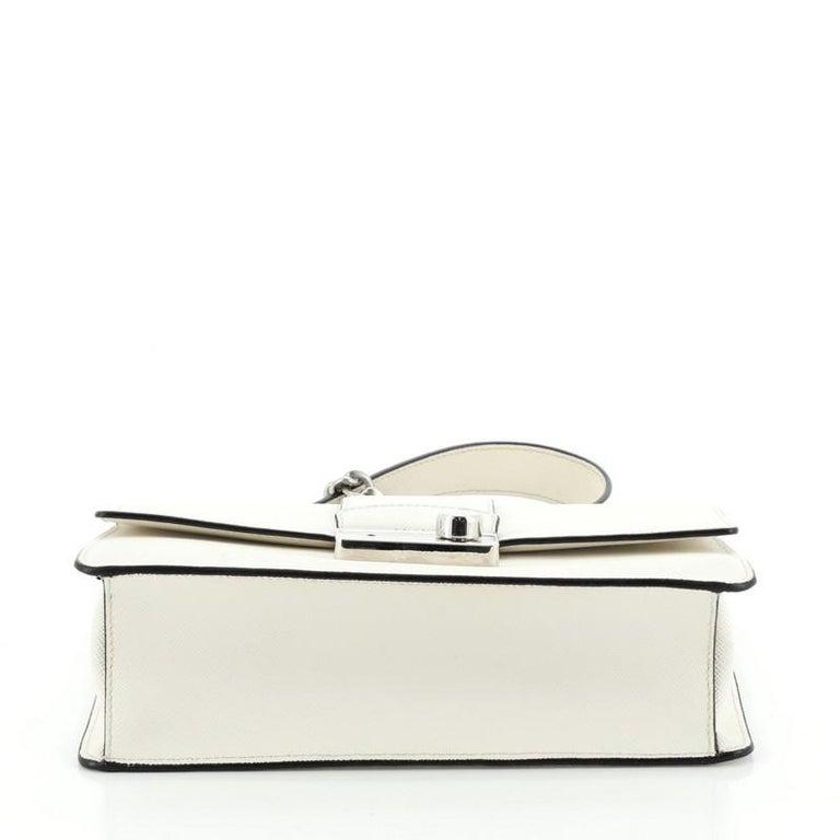 Women's or Men's Prada Sound Chain Shoulder Bag Saffiano Leather Small For Sale
