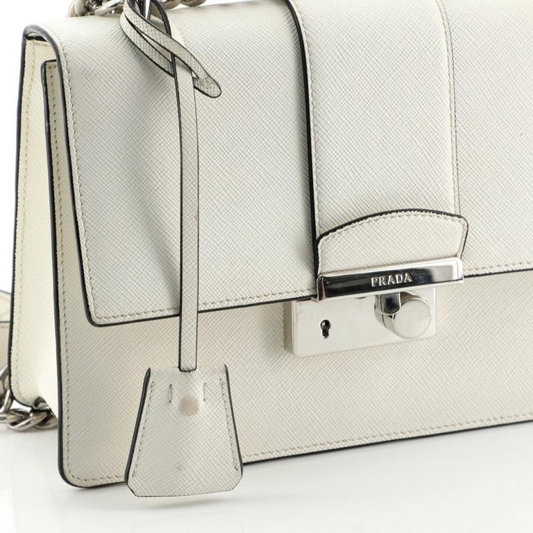Prada Sound Chain Shoulder Bag Saffiano Leather Small For Sale 3
