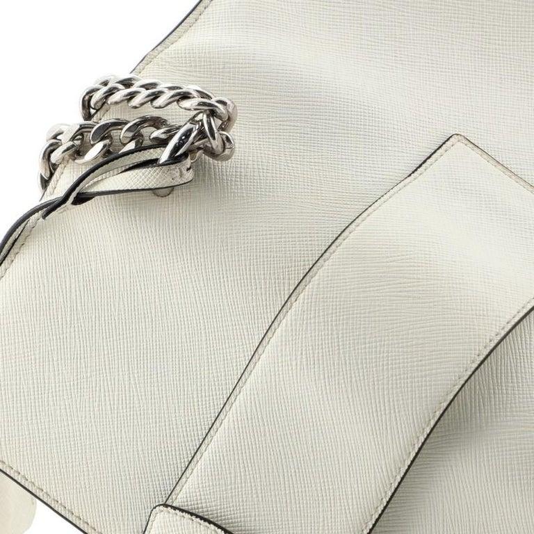 Prada Sound Chain Shoulder Bag Saffiano Leather Small For Sale 4