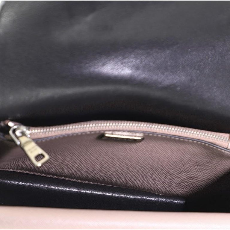 Prada Sound Convertible Satchel Saffiano Leather Small For Sale 1