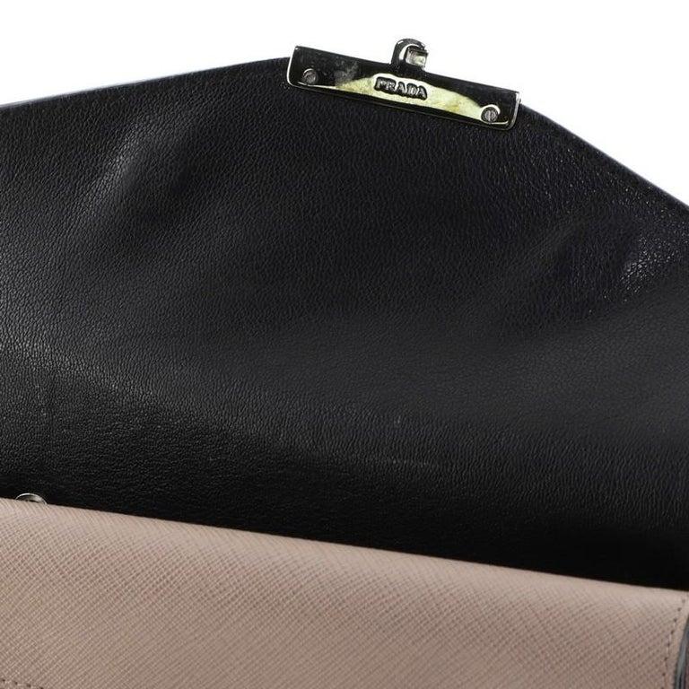 Prada Sound Convertible Satchel Saffiano Leather Small For Sale 3