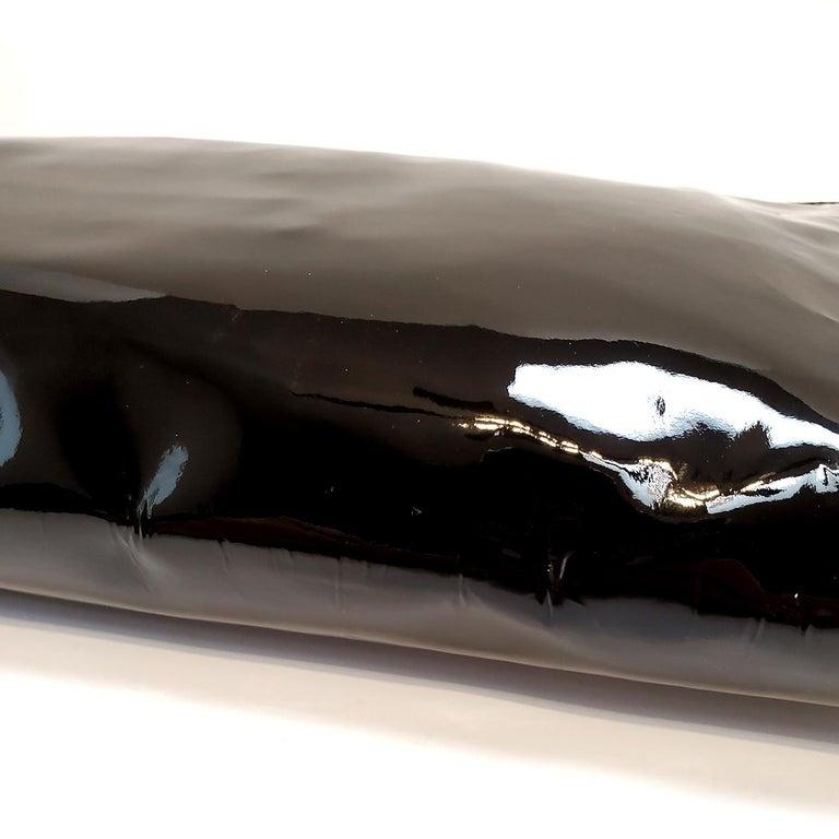 Prada Spazzolato C;assic Black Clutch Handbag For Sale 3