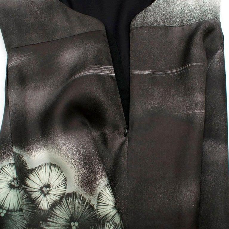 Women's Prada Special Edition Bi-Colour Printed Silk Dress US 6 For Sale