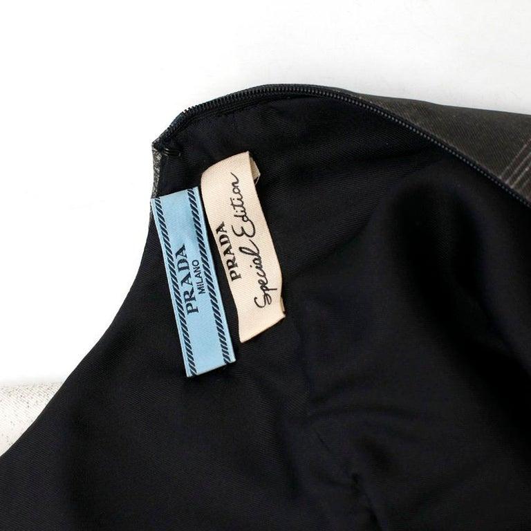 Prada Special Edition Bi-Colour Printed Silk Dress US 6 For Sale 1