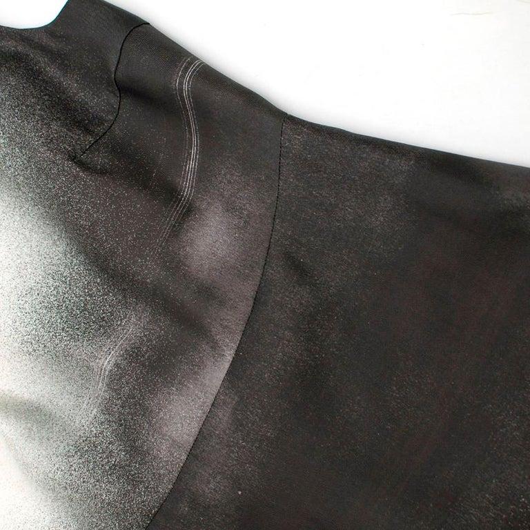 Prada Special Edition Bi-Colour Printed Silk Dress US 6 For Sale 4