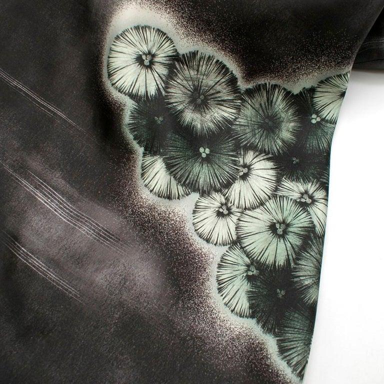 Prada Special Edition Bi-Colour Printed Silk Dress US 6 For Sale 5