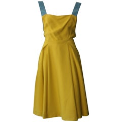 Prada Special Yellow and Blue Edition Dress
