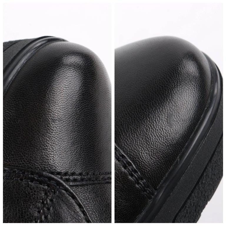 PRADA Sport A/W 2013 Black Vitello Leather Triple Strap Hi Top Wedge Sneakers For Sale 10