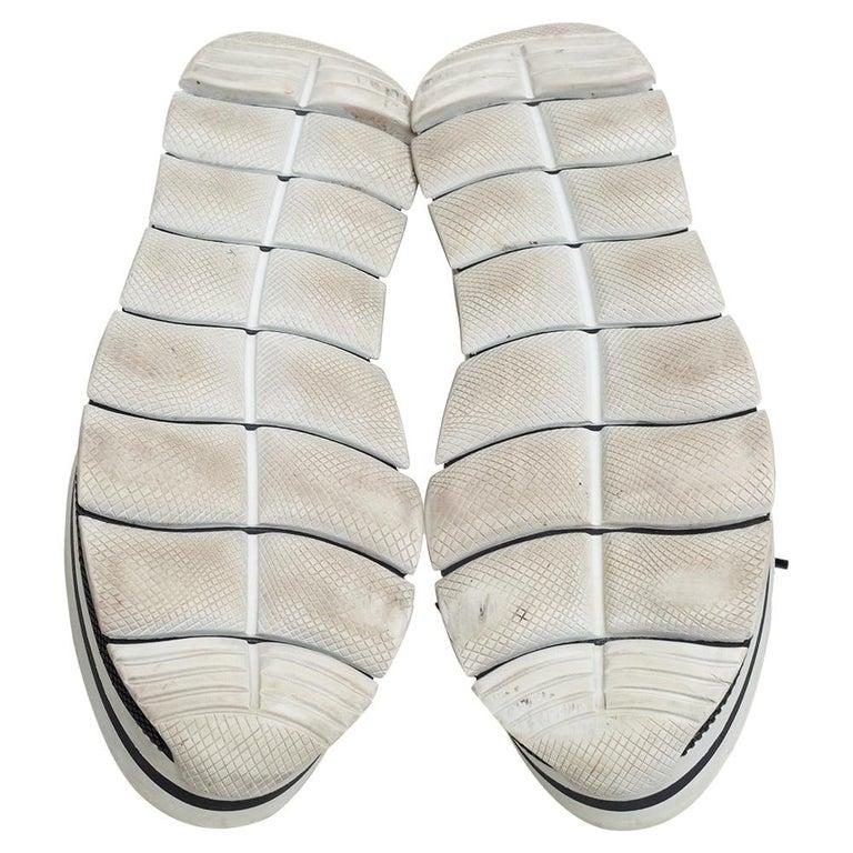 Women's Prada Sport Black Leather Platform Sneakers Size 38 For Sale