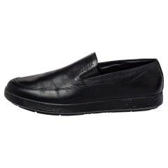 Prada Sport Black Leather Slip On Loafers Size 40