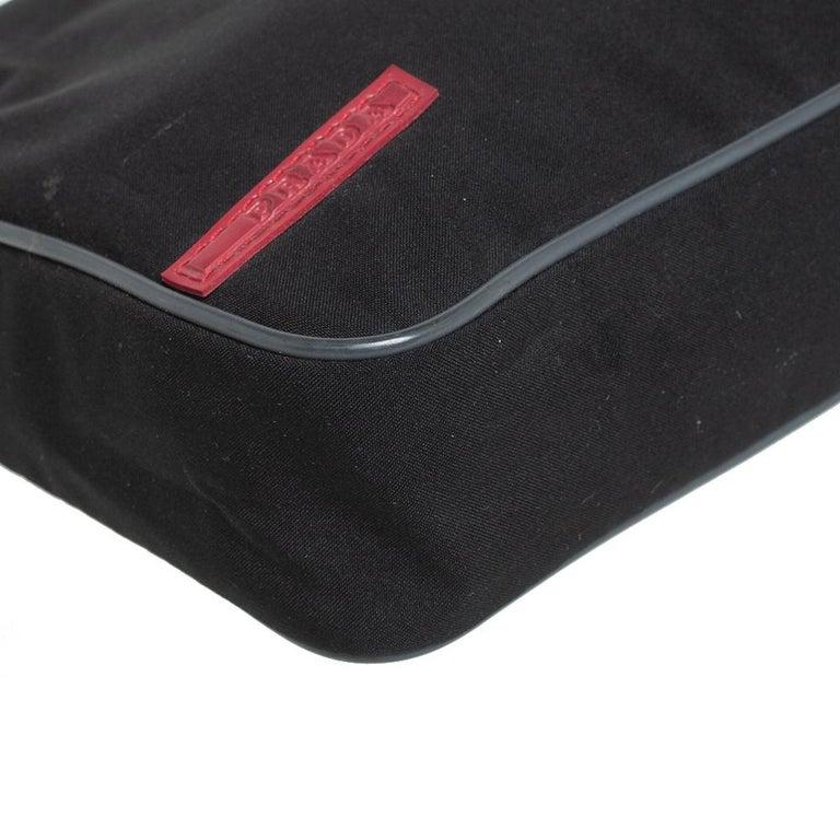 Prada Sport Black Nylon Baguette For Sale 6