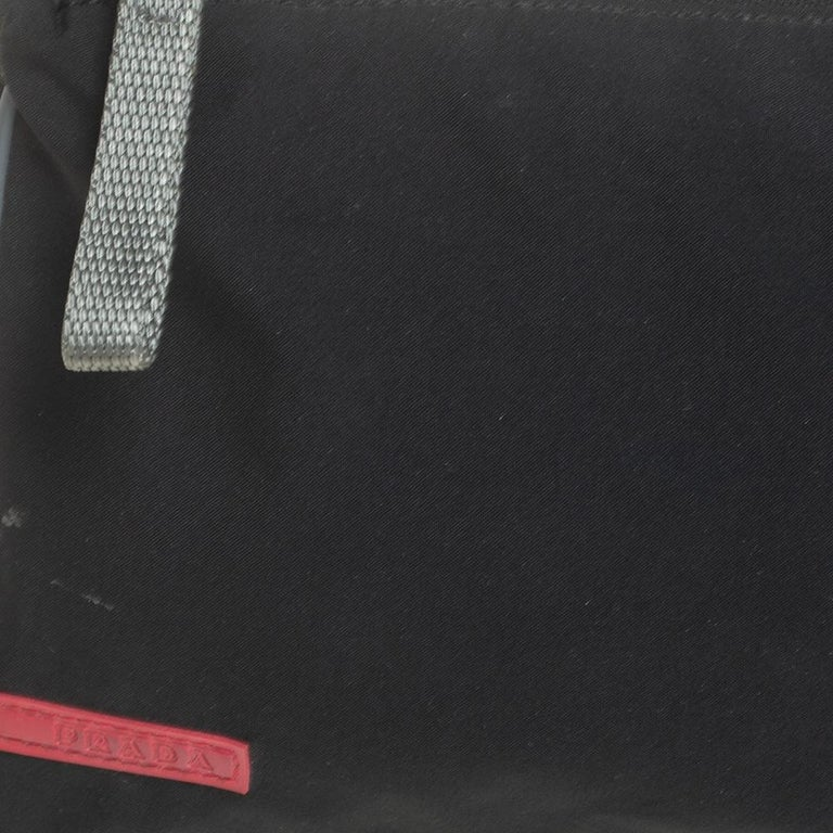 Prada Sport Black Nylon Baguette For Sale 1