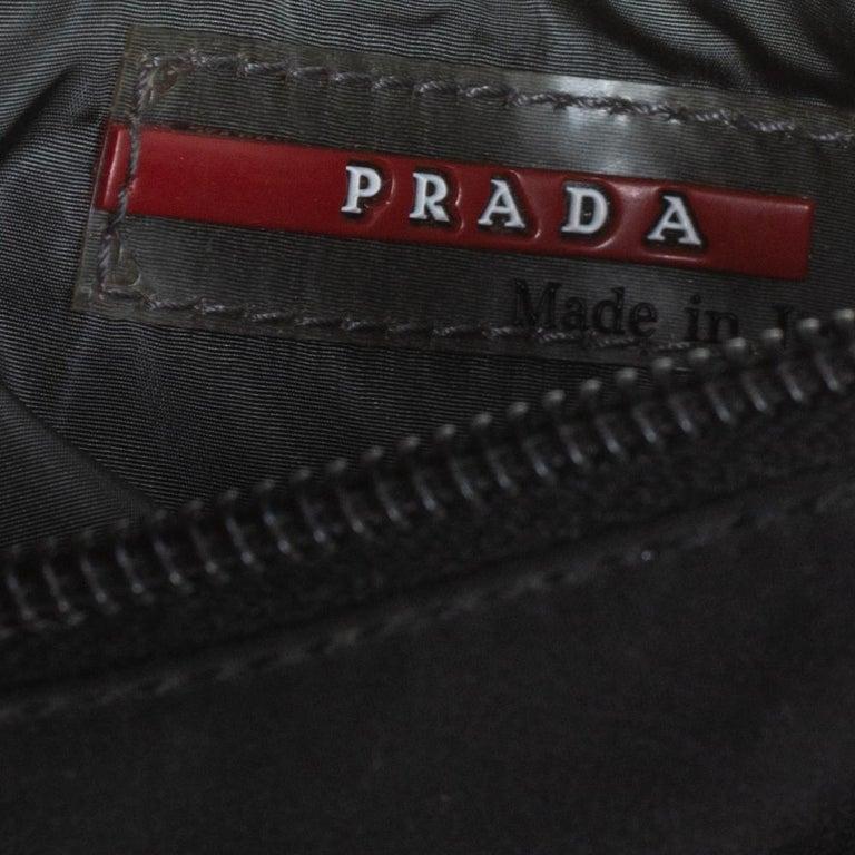 Prada Sport Black Nylon Baguette For Sale 3