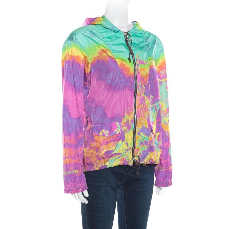 6c8f84de5 Prada Sport Multicolor Printed Zip Front Belted Hooded Jacket M For Sale at  1stdibs