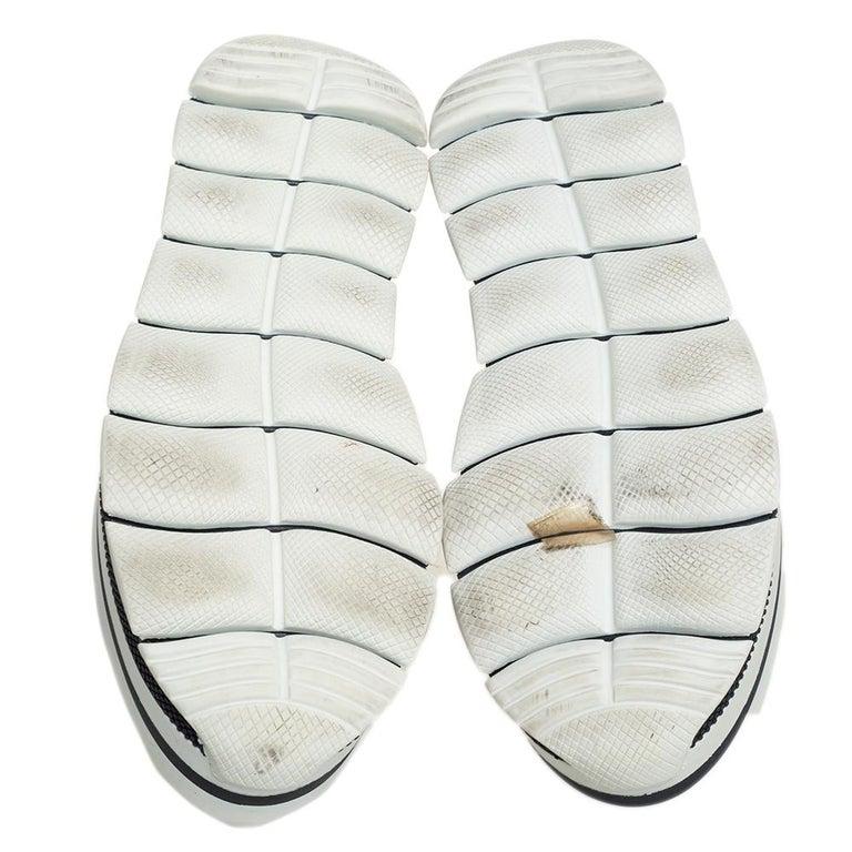 Prada Sport White Leather Platform Sneakers Size 38 In Good Condition For Sale In Dubai, Al Qouz 2
