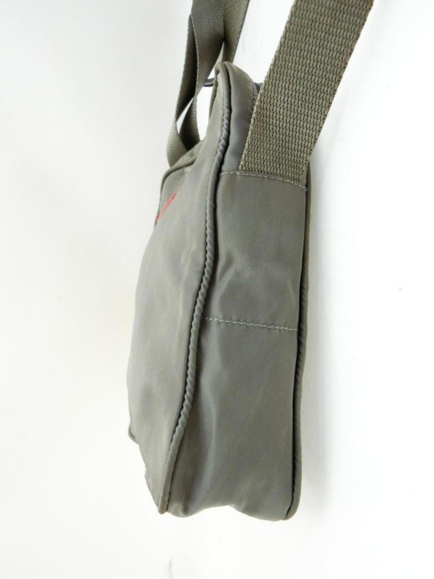 47b5e64f383b Prada Sports Tessuto Vela Mini Messenger 232179 Grey Nylon Cross Body Bag  For Sale at 1stdibs