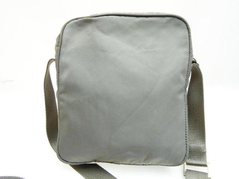 27182f7f3b07 Prada Sports Tessuto Vela Mini Messenger 232179 Grey Nylon Cross Body Bag  For Sale 2