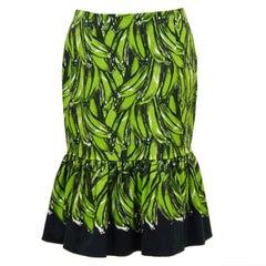 Prada Spring 2011 Ready-to-Wear Green Banana Skirt