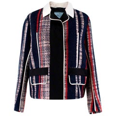 Prada Striped Tweed Jacket US 6