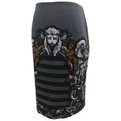 Prada Stripes And Prints Skirt SS 2011