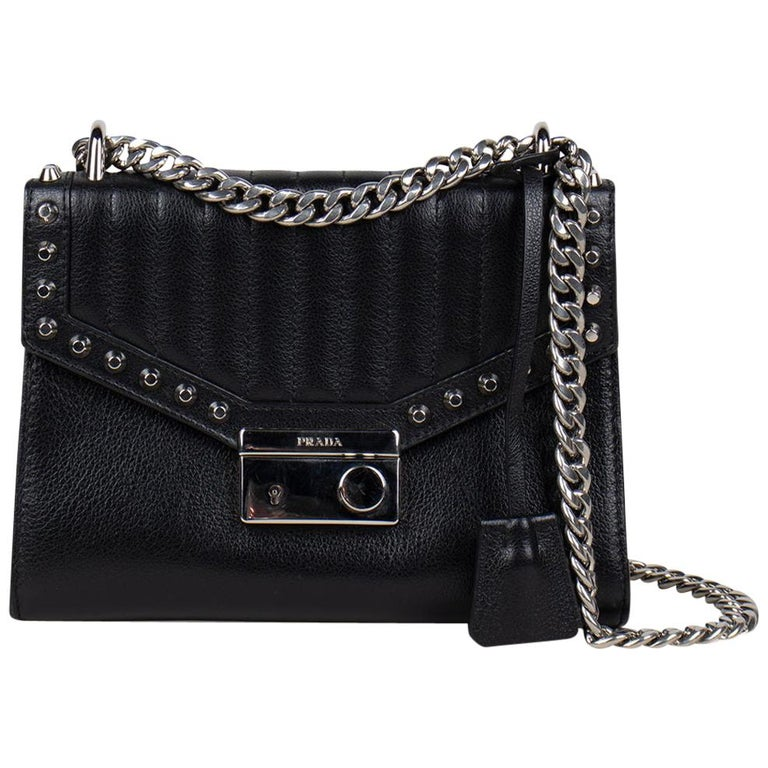 Prada Studded Chain Crossbody Bag For Sale