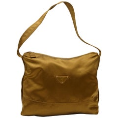 Prada Tan Large Satin Shoulder Bag