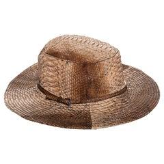 Prada tan python bucket hat, ss 2004