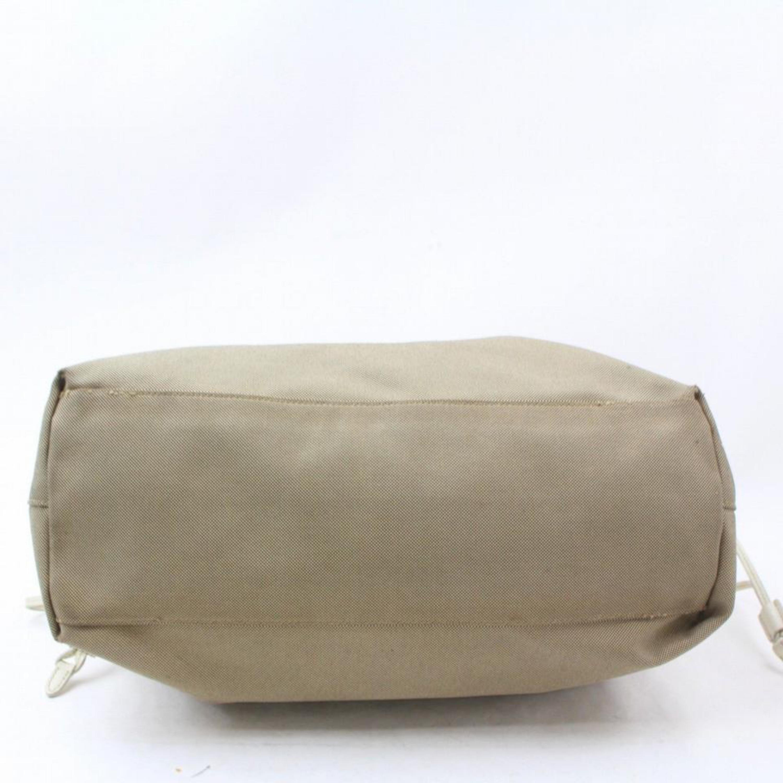 b082c913435e Prada Taupe Beige Logo Shopper 869040 Grey Canvas Tote For Sale at 1stdibs